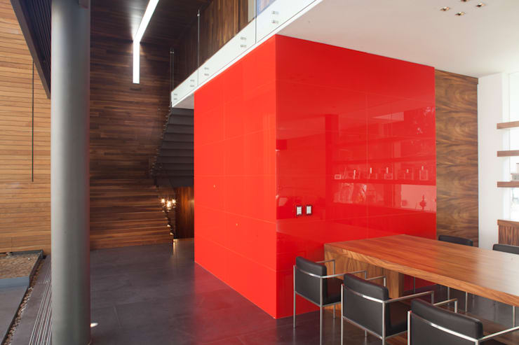 Salle à manger de style  par Echauri Morales Arquitectos, Minimaliste