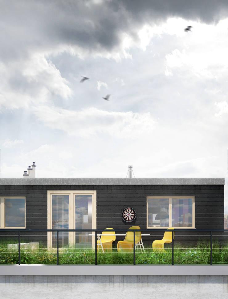 Projekt Wnętrza:  Mieszkanie Młodego Architekta: styl , w kategorii Taras zaprojektowany przez Akuratnie