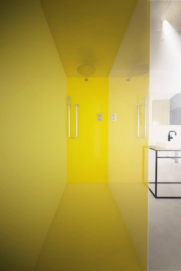 Projekt Wnętrza:  Mieszkanie Młodego Architekta: styl , w kategorii Łazienka zaprojektowany przez Akuratnie