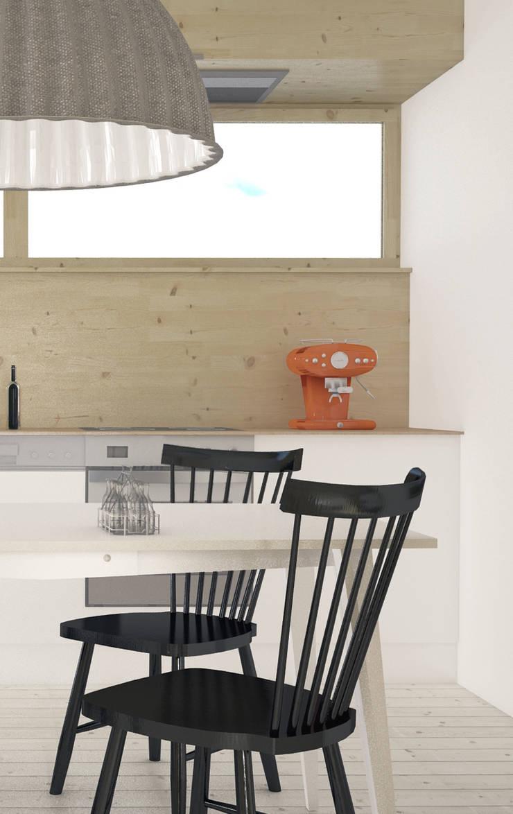 Projekt Wnętrza:  Mieszkanie Młodego Architekta: styl , w kategorii Kuchnia zaprojektowany przez Akuratnie