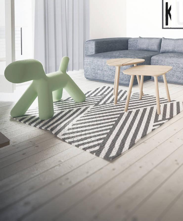 Projekt Wnętrza:  Mieszkanie Młodego Architekta: styl , w kategorii Salon zaprojektowany przez Akuratnie