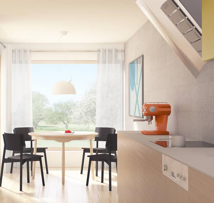 Projekt Wnętrza:  Kuchnia z Widokiem na Sad: styl , w kategorii Kuchnia zaprojektowany przez Akuratnie