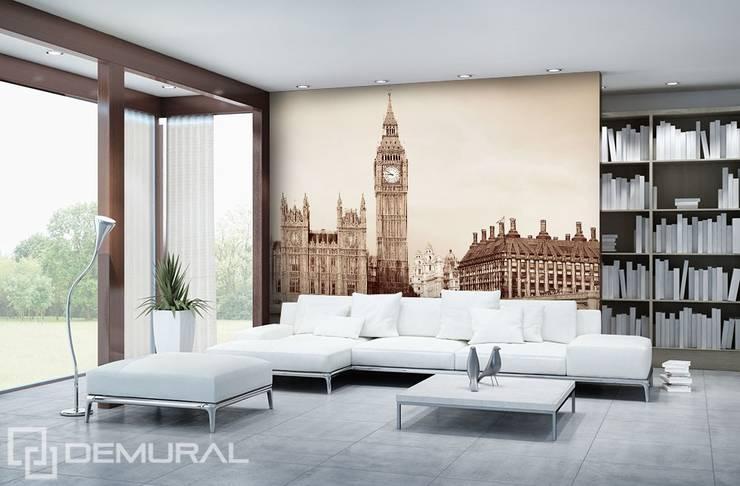 Wakacje w Londynie: styl , w kategorii  zaprojektowany przez Demural.pl,