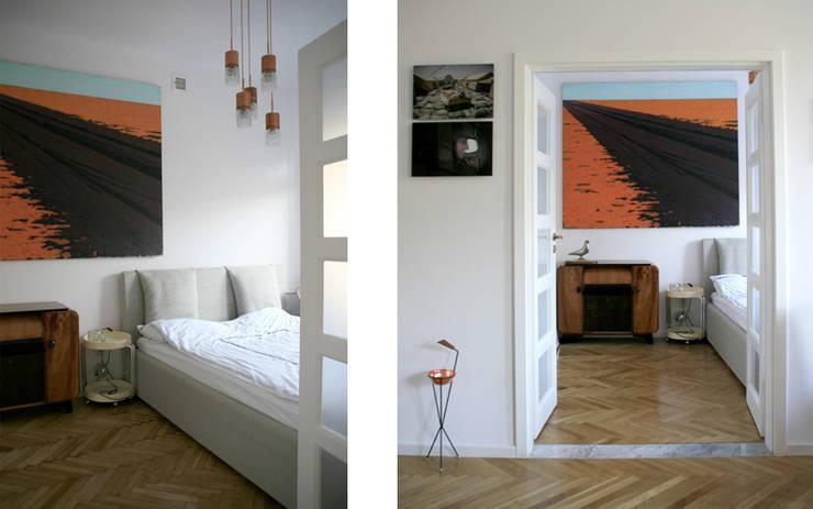 przy parku: styl , w kategorii Sypialnia zaprojektowany przez JJJASKOLA ARCHITEKCI