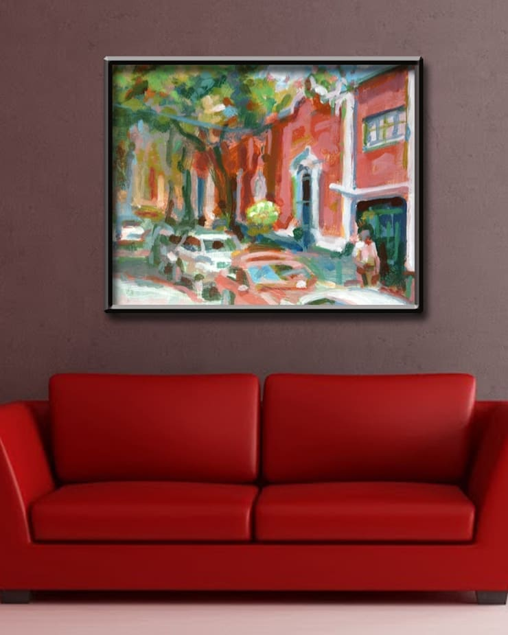 Laurel Avenue Room:  Artwork by Opper & Webb Fine Art Dealers
