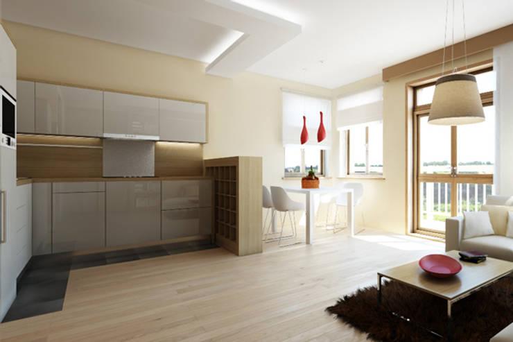 APARTAMENTO EN LA MONTAÑA: Cocinas de estilo minimalista de Agami Design