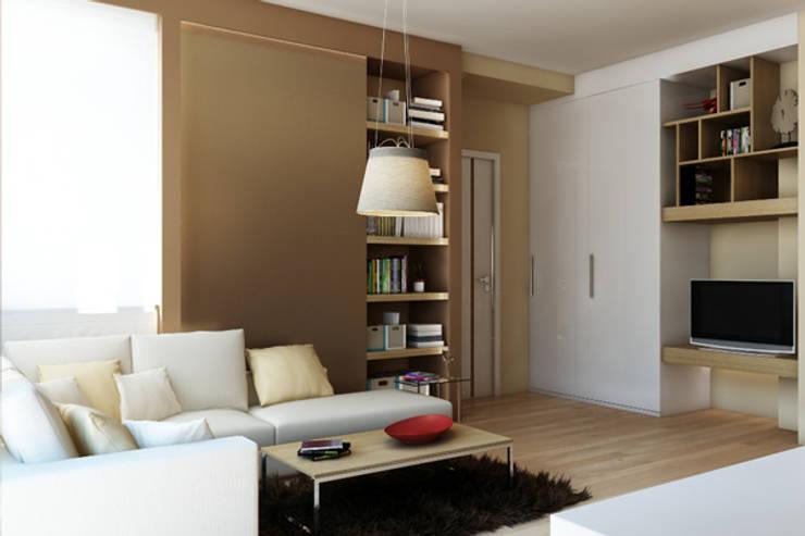APARTAMENTO EN LA MONTAÑA: Salones de estilo minimalista de Agami Design