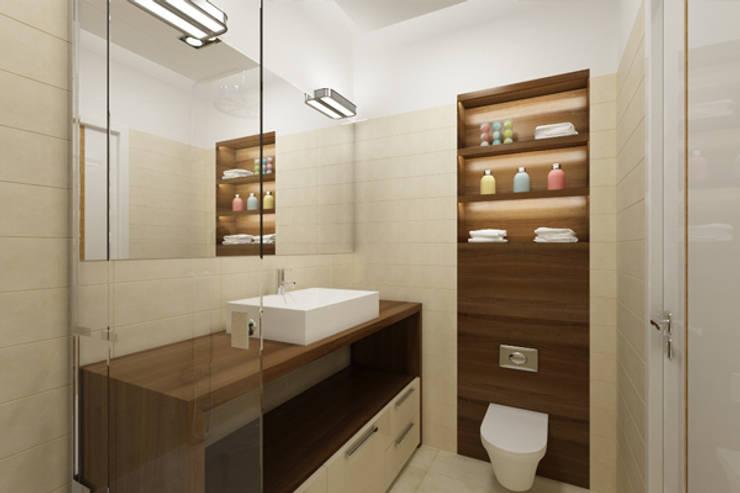 APARTAMENTO EN LA MONTAÑA: Baños de estilo minimalista de Agami Design