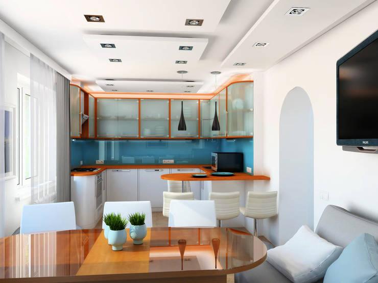 День: Столовые комнаты в . Автор – Дизайн студия Александра Скирды ВЕРСАЛЬПРОЕКТ