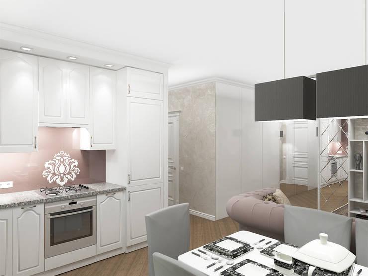 Квартира с акцентом: Столовые комнаты в . Автор – Дизайн студия Александра Скирды ВЕРСАЛЬПРОЕКТ, Классический