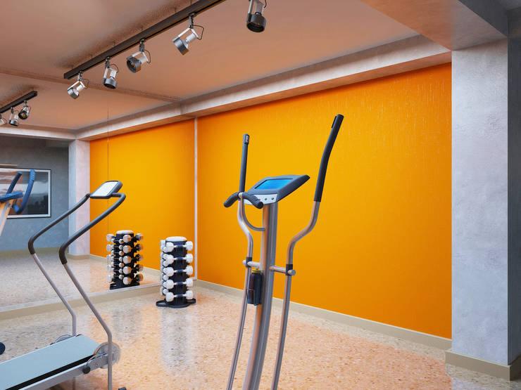 Просто дом: Тренажерные комнаты в . Автор – Дизайн студия Александра Скирды ВЕРСАЛЬПРОЕКТ