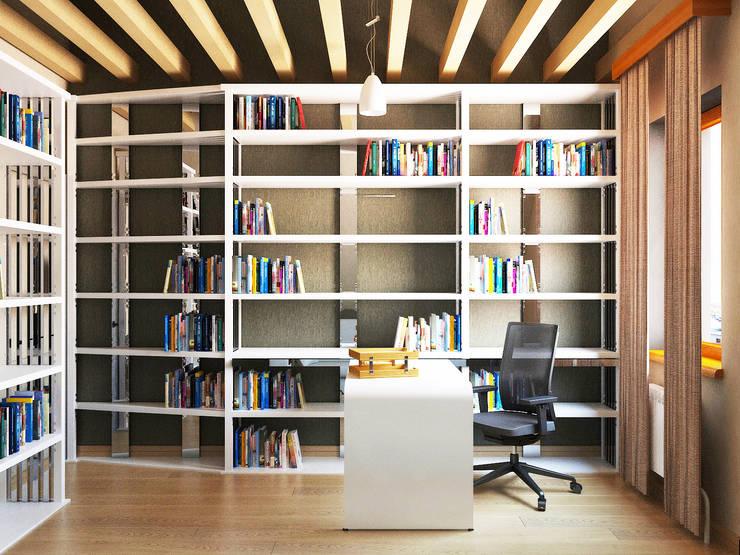 Просто дом: Рабочие кабинеты в . Автор – Дизайн студия Александра Скирды ВЕРСАЛЬПРОЕКТ