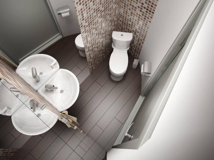 Капризы: Ванные комнаты в . Автор – Дизайн студия Александра Скирды ВЕРСАЛЬПРОЕКТ, Эклектичный