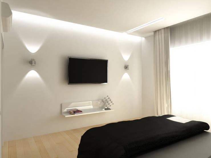 Чистота : Спальни в . Автор – Дизайн студия Александра Скирды ВЕРСАЛЬПРОЕКТ