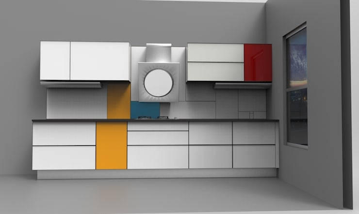 NEO-PLASTICISM AS SEEN BY PIET MONDRIAN:  Kitchen by ANJALI SHAH