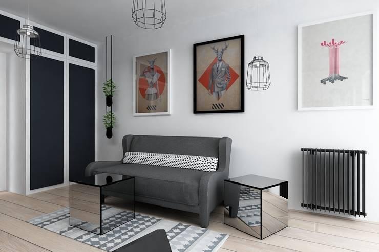 KAWALERKA PRAGA-WARSZAWA: styl , w kategorii Salon zaprojektowany przez I Home Studio Barbara Godawska