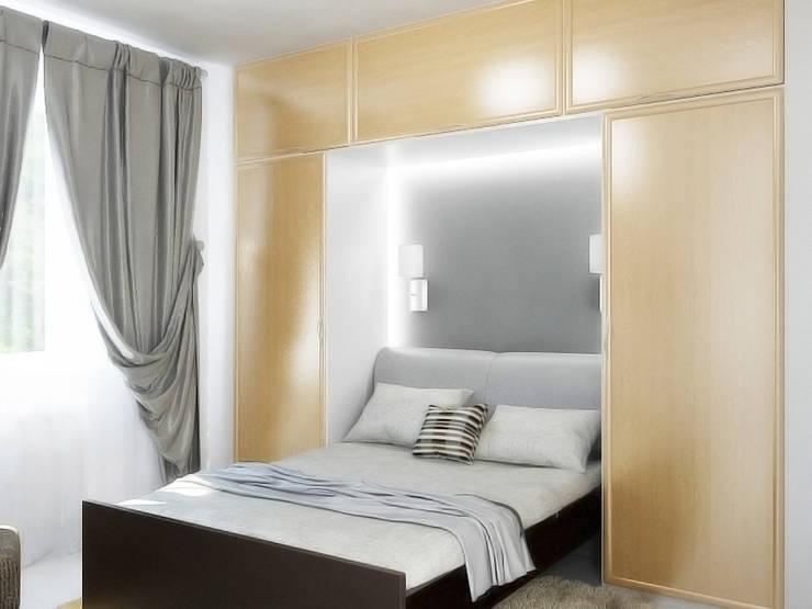 Преображение дома 1961 года : Спальни в . Автор – Дизайн студия Александра Скирды ВЕРСАЛЬПРОЕКТ
