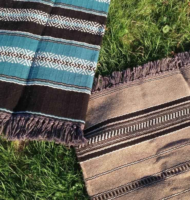 handgeweven wollen kleden mooi voor op de veranda :  Terras door Burra Burra, Eclectisch
