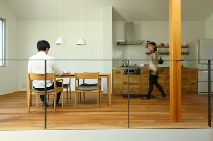 クレバスハウスのキッチン: 株式会社seki.designが手掛けたキッチンです。,北欧