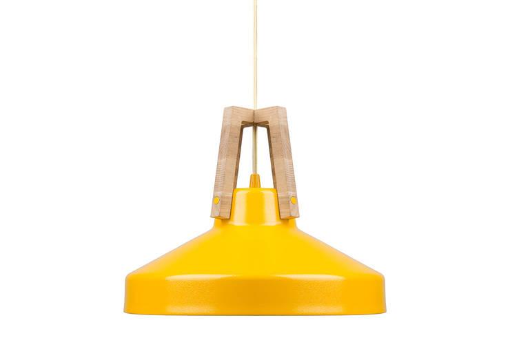 Lampa work żółta: styl , w kategorii Domowe biuro i gabinet zaprojektowany przez LoftYou