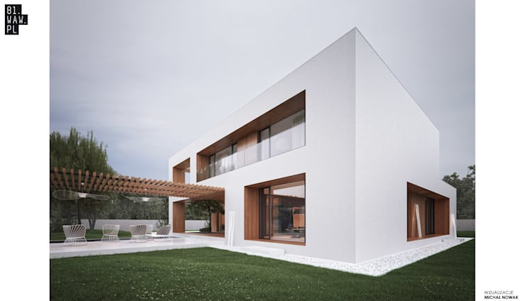 Dom Dziurawy: styl , w kategorii Domy zaprojektowany przez 81.waw.pl