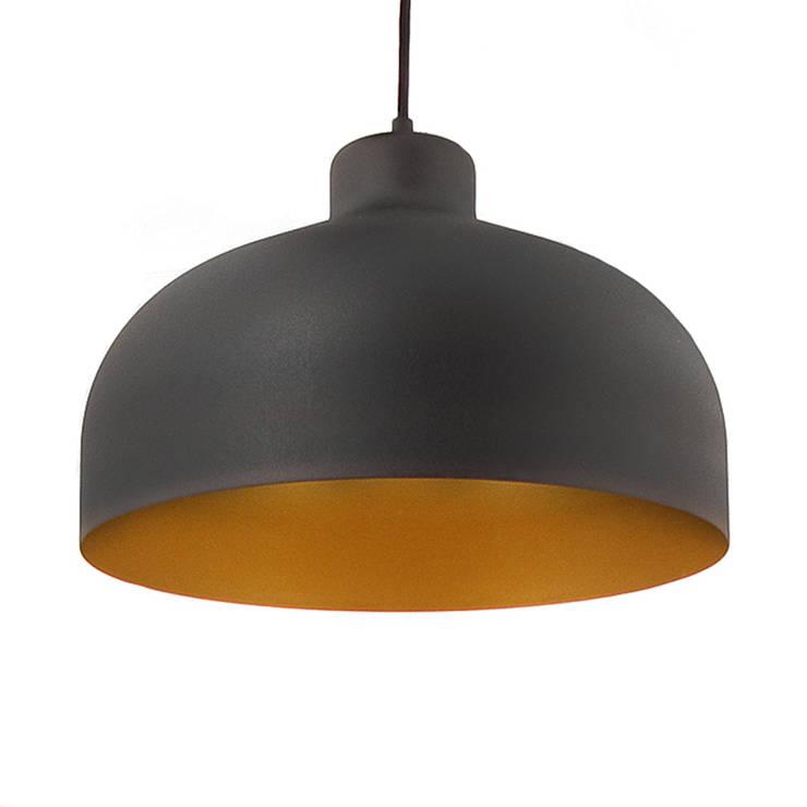 Lampa B&B czarna z złotem: styl , w kategorii Domowe biuro i gabinet zaprojektowany przez LoftYou