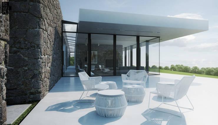 Dom Polny: styl , w kategorii Domy zaprojektowany przez 81.waw.pl,Nowoczesny