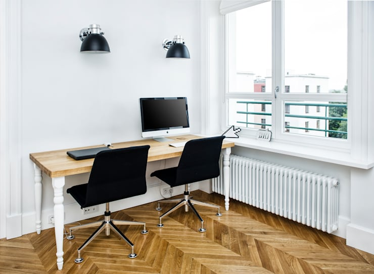 Francja na Powiślu: styl , w kategorii Domowe biuro i gabinet zaprojektowany przez EG Projekt