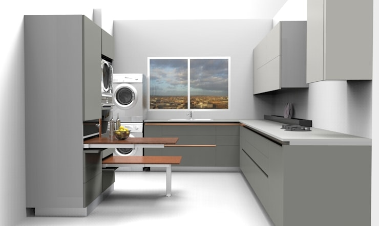 Rustic yet contemporary :  Kitchen by ANJALI SHAH