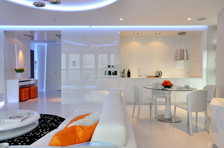 Sea Towers Apartment: styl , w kategorii Kuchnia zaprojektowany przez Minsterstwo Spraw We Wnętrzach