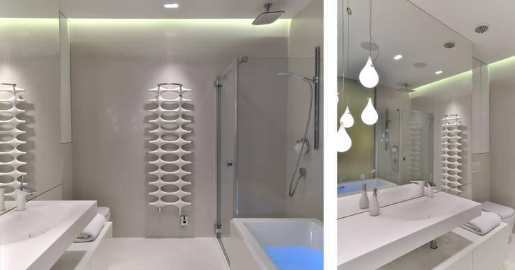 Sea Towers Apartment: styl , w kategorii Łazienka zaprojektowany przez Minsterstwo Spraw We Wnętrzach