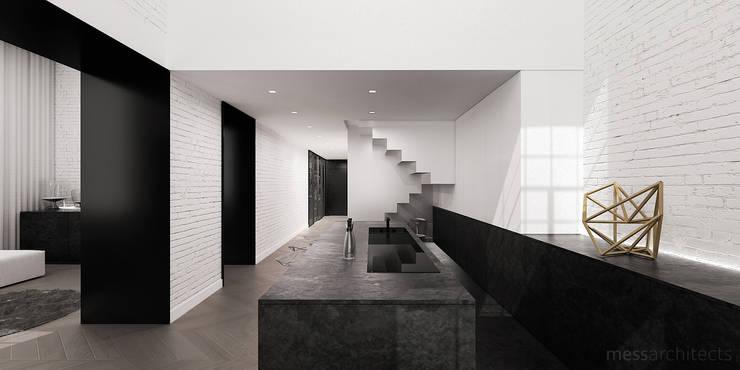 High - Contrast Loft : styl , w kategorii Kuchnia zaprojektowany przez Mess Architects
