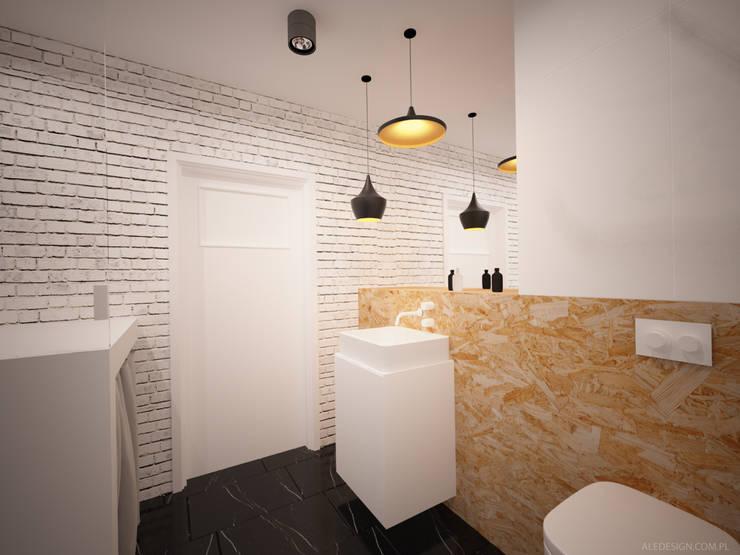 Łazienka z łosiem: styl , w kategorii Łazienka zaprojektowany przez Ale design Grzegorz Grzywacz