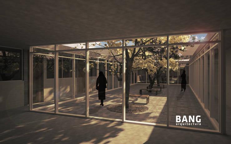 Sala de estar y Patio  / Área de cuartos:  de estilo  por BANG arquitectura