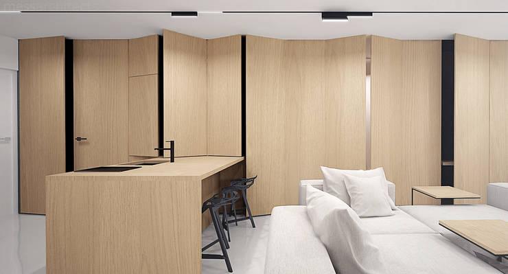 The Wall: styl , w kategorii Kuchnia zaprojektowany przez Mess Architects