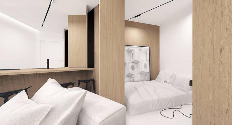 The Wall: styl , w kategorii Sypialnia zaprojektowany przez Mess Architects
