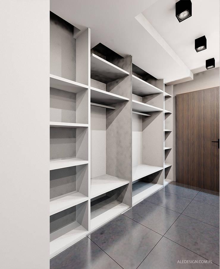 Projekt mieszkania 55m2 w Dąbrowie Górniczej: styl , w kategorii Korytarz, przedpokój zaprojektowany przez Ale design Grzegorz Grzywacz