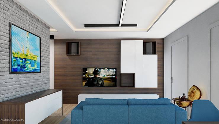 Projekt mieszkania 55m2 w Dąbrowie Górniczej: styl , w kategorii Salon zaprojektowany przez Ale design Grzegorz Grzywacz