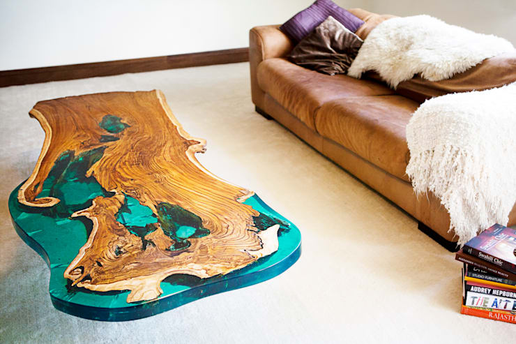 'Sea Horse' design coffee table:  Dining room by Neil Scott Furniture Limited