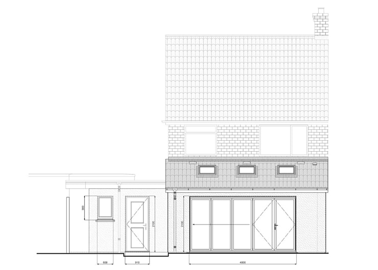 Elevational treatment:  Houses by Rogers and Jones Architects