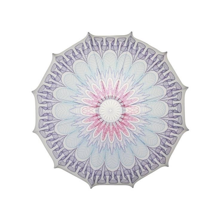 Plafon Mandala kolor (mały): styl , w kategorii Sypialnia zaprojektowany przez Lumiforma