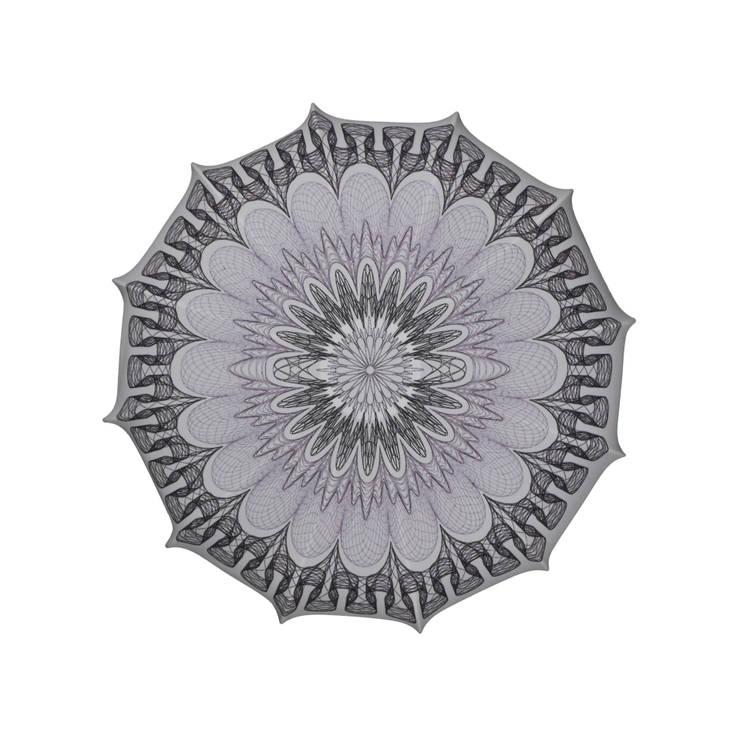 Plafon Mandala grey (mały): styl , w kategorii Sypialnia zaprojektowany przez Lumiforma