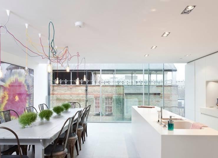 NUD Lighting - Exposed lighting:  Dining room by Roo's Beach