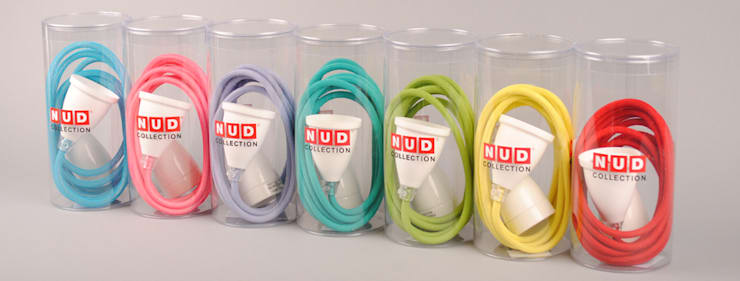 NUD Classic Textile Light Cord: eclectic Living room by Roo's Beach