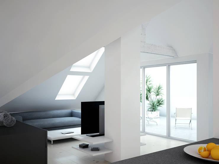 Umbau:  Wohnzimmer von Innenarchitektur  Schucker & Krumm