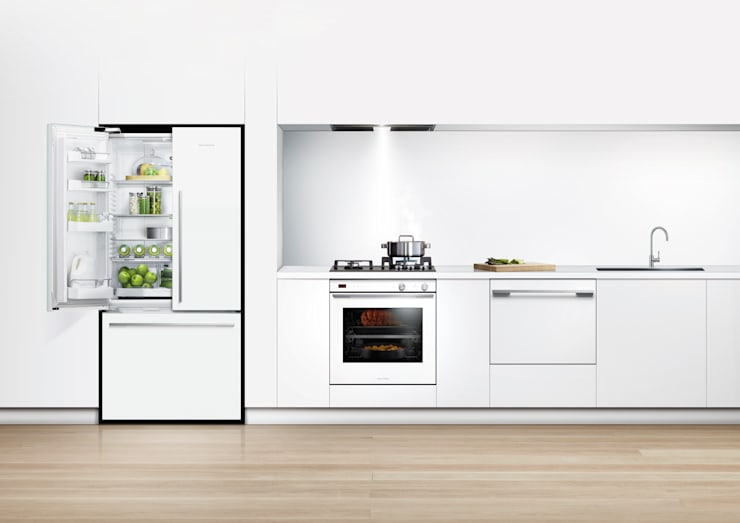New Flat white range of fridge freezers: classic Kitchen by Fisher & Paykel