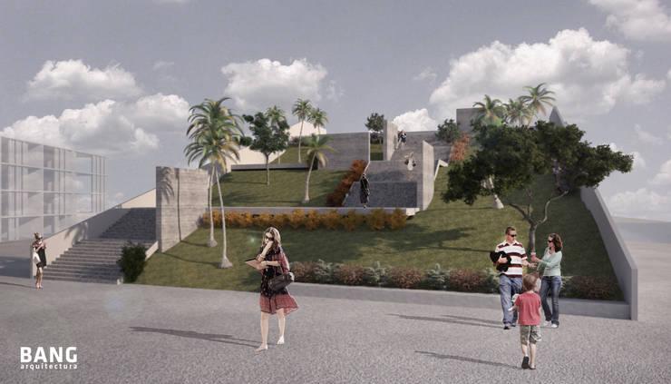 Roof garden y mirador / Centro de convenciones:  de estilo  por BANG arquitectura