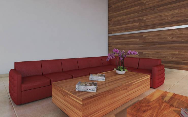 Sala de espera: Sala multimedia de estilo  por Diseñería 72ocho10