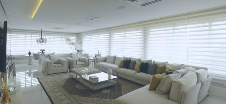 ESTAR EM LUXO: Salas de estar  por Motta Viegas arquitetura + design,