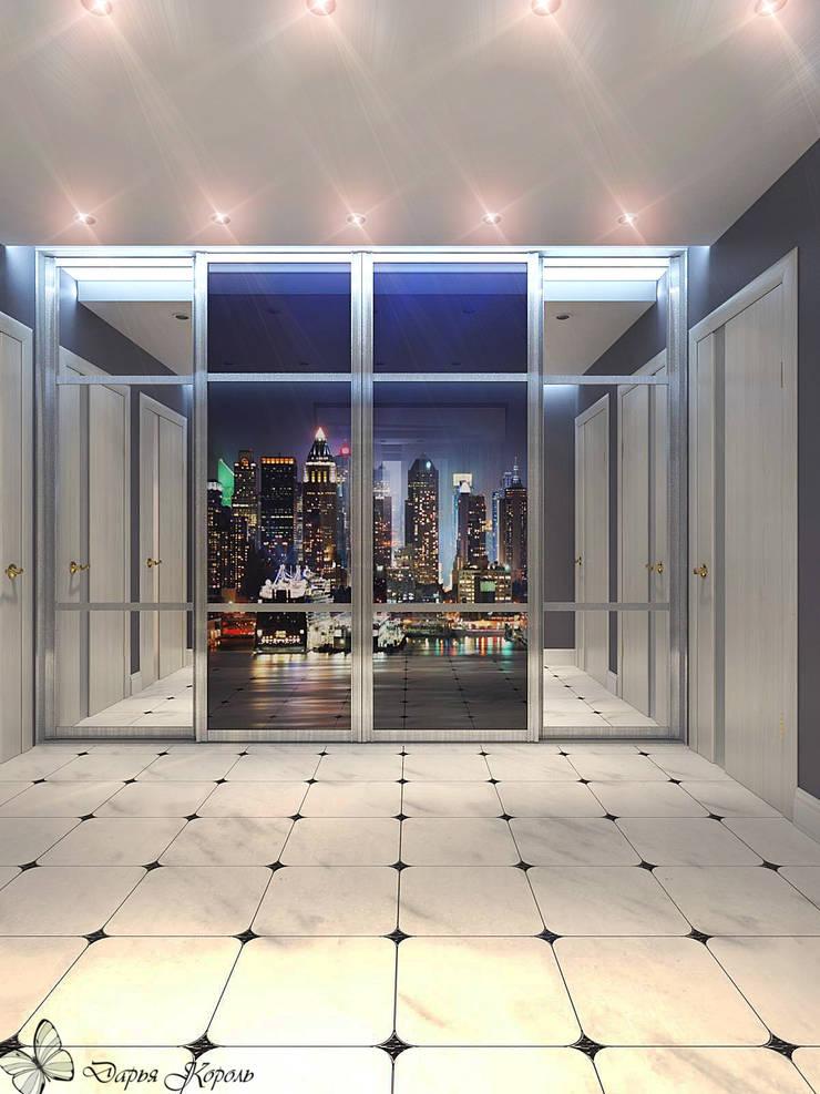 Panel flat <q>Urban theme</q>: Коридор и прихожая в . Автор – Your royal design